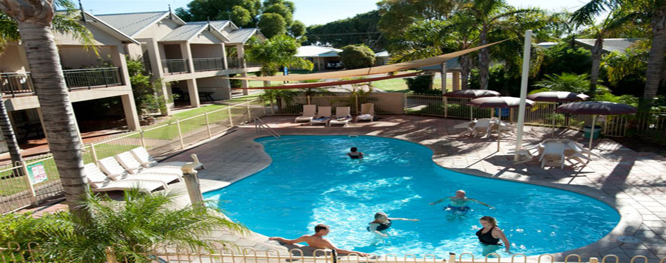 Take respite from the sun and heat by our shaded pool